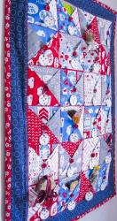 Pockets Full of Blessings Wall Quilt Tutorial by Nancy Devine for Quilt Social