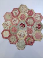 Quilt as You Go Hexagon Tutorial by Heather from Happy Appliquer