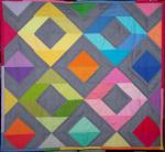 Rainbow Diamonds Mini Quilt Tutorial by Lindsay Conner from Craft Buds