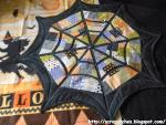 Spider Web Table Topper Tutorial from Life in the Scrapatch